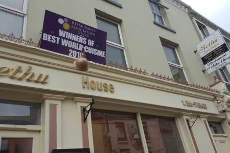 Winner of the Best World Cuisine in Kerry Ireland